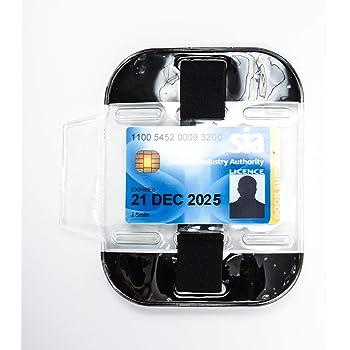 Security SIA ID Holder lanyard epaulette//Belt.#20405 3 way attachment Armband