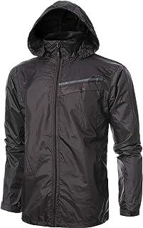 GIVON Mens Slim Fit Lightweight Windbreaker Pocket Jacket with Hidden Hoodie with Hidden Hoodie