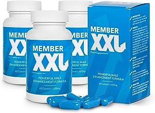 Member XXL (3x) Krachtmedicatie en penisvergroting, krachtige formule voor mannelijke verbetering, voedingssupplement (180...