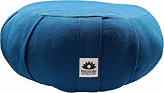Waterglider International Organic Cotton Meditation Cushion by Organic Cotton Stuffing (Midnight Blue)