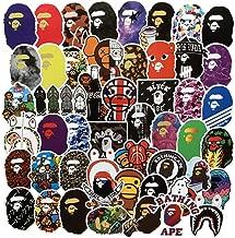 Popular Logo Stickers Bape Brand Stickers Laptop Water Bottles Bedroom Wardrobe Car Skateboard Motorcycle Bicycle Mobile Phone Luggage Guitar DIY Decal (Bape 50)