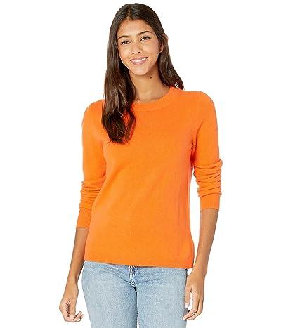 J.Crew Cashmere Crew Neck Sweater (Bright Persimmon) Women