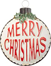 RAZ Imports 13 Inch Merry Christmas Ornament - Hanging Metal Christmas Sign
