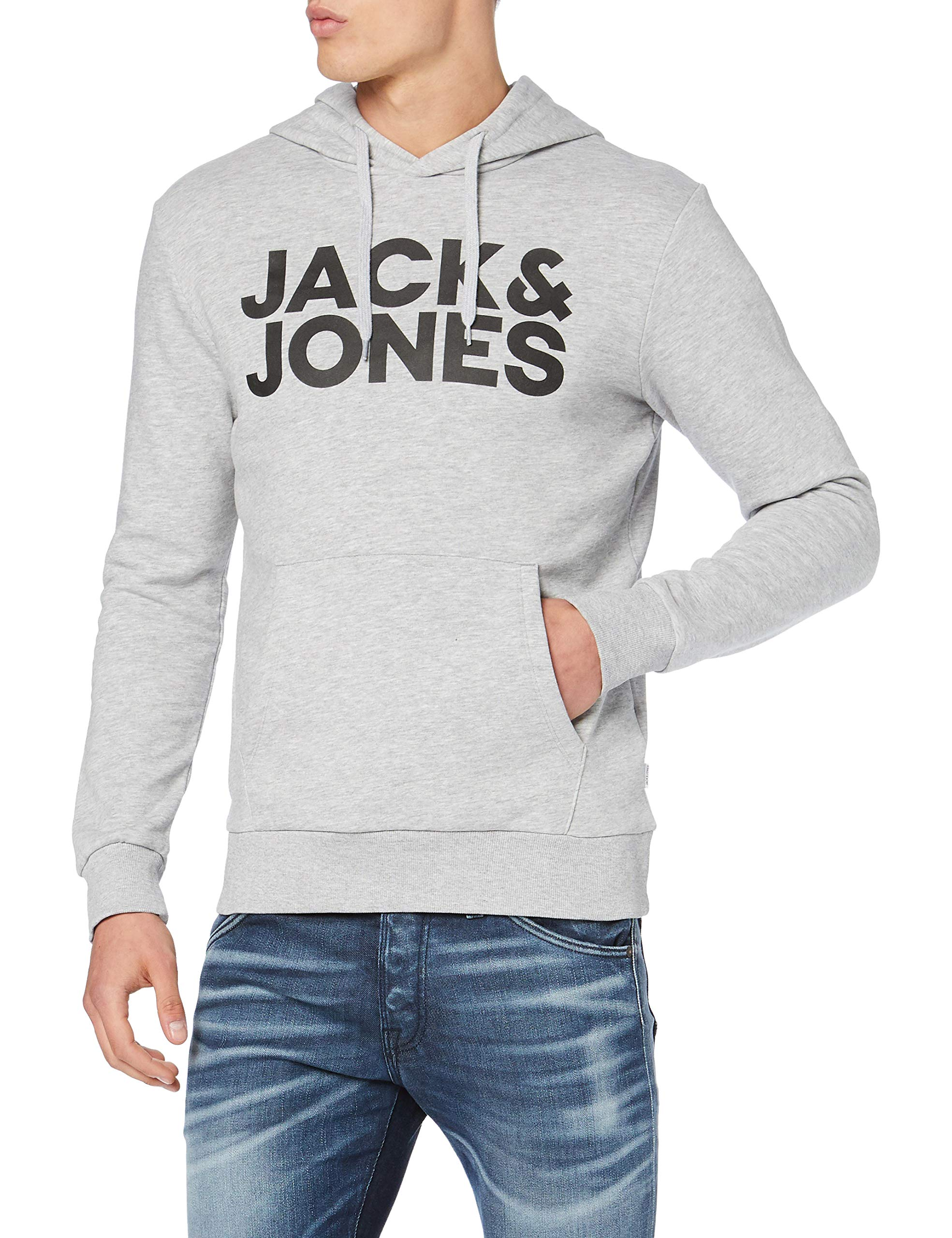 Jack /& Jones Mens JJecorp Printed Logo Sweat Hoodie