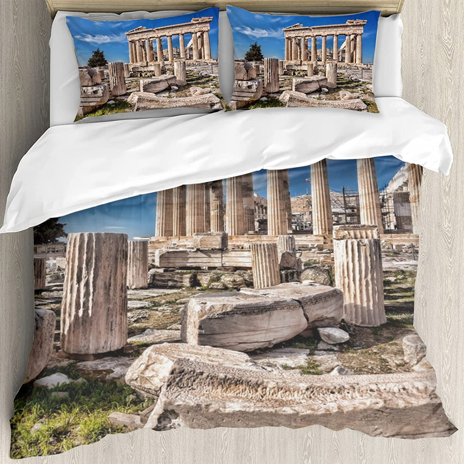 3 Pieces of gift Bedding Set Parthenon The in Temple Ath Acropolis on Cheap mail order sales