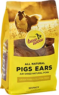 Bow Wow- Pigs Ears Dog Treats, 10 Pack