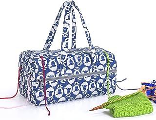 Luxja Sac a Tricot Crochet, Sac pour Rangement Laines, Sac pour Crochet Laine, Aiguilles à Tricoter et d'autres Accessoire...