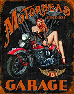 Desperate Enterprises Legends - Motorhead Garage Tin Sign, 12.5