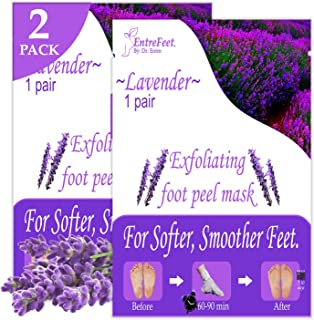 Dr. Entre's Foot Peel Mask | 2 Lavender Pairs | Baby Soft Feet in Just 7 Days, Exfoliating Callus Remover