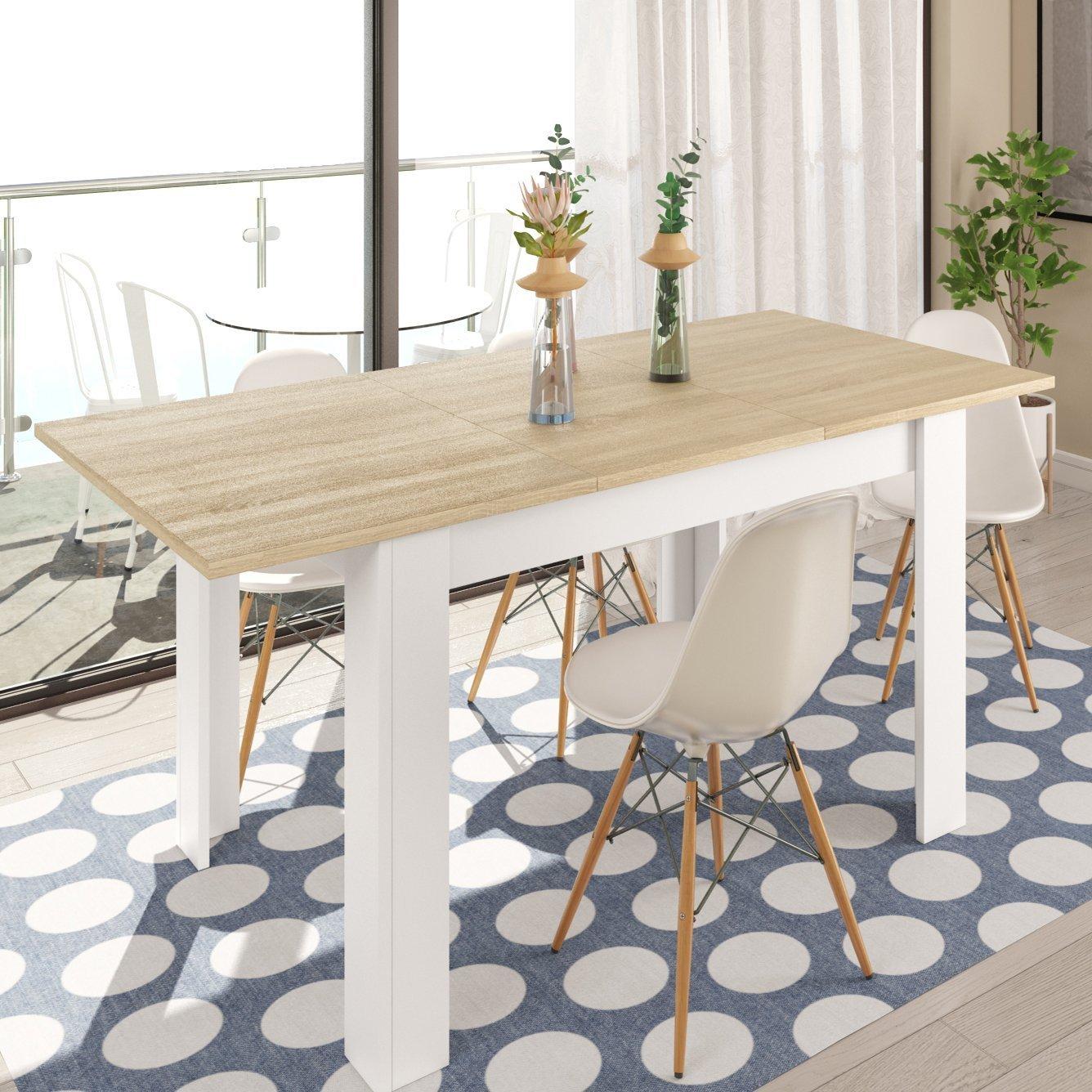 Hogar Decora Pack de Mesa Comedor London + 6 sillas Nordikas Blancas: Amazon.es: Juguetes y juegos