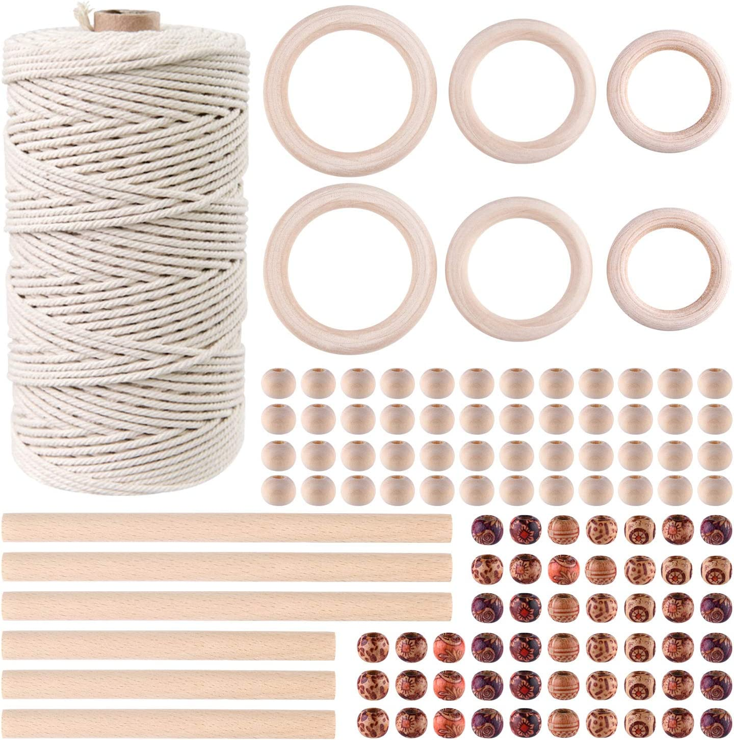 TUPARKA Macrame Rope Max 61% OFF Kit 109 New popularity Yadrs 100 Cord with 3mm Pcs