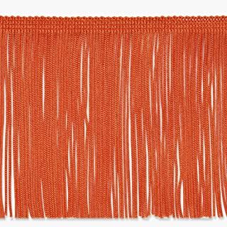 Expo International 6in Chainette Fringe Trim Orange Fabric By The Yard