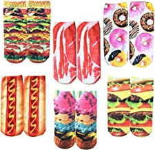 Funny Crazy Colorful 3D Print Ankle Socks, Cute Unicorn Cat Low Cut Design