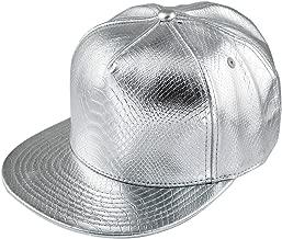 metallic silver snapback
