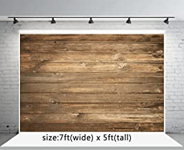Seamless Backdrop Brown Wood Photo Backgrounds Wood Wall Photography Backdrops wd1772 (7x5ft)