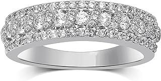 Diamond Jewel 14K White Gold 3/4 cttw Diamond (H-I Color,I1-I2 Clarity) Fashion Band