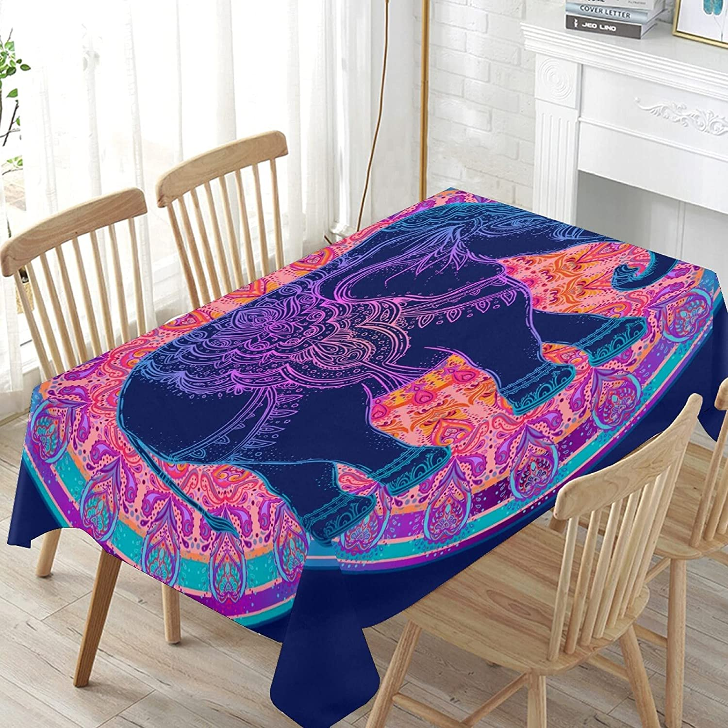 120x60in Table Cloths Rectangle Elephant Mail order Dec Tablecloths Long-awaited Pattern