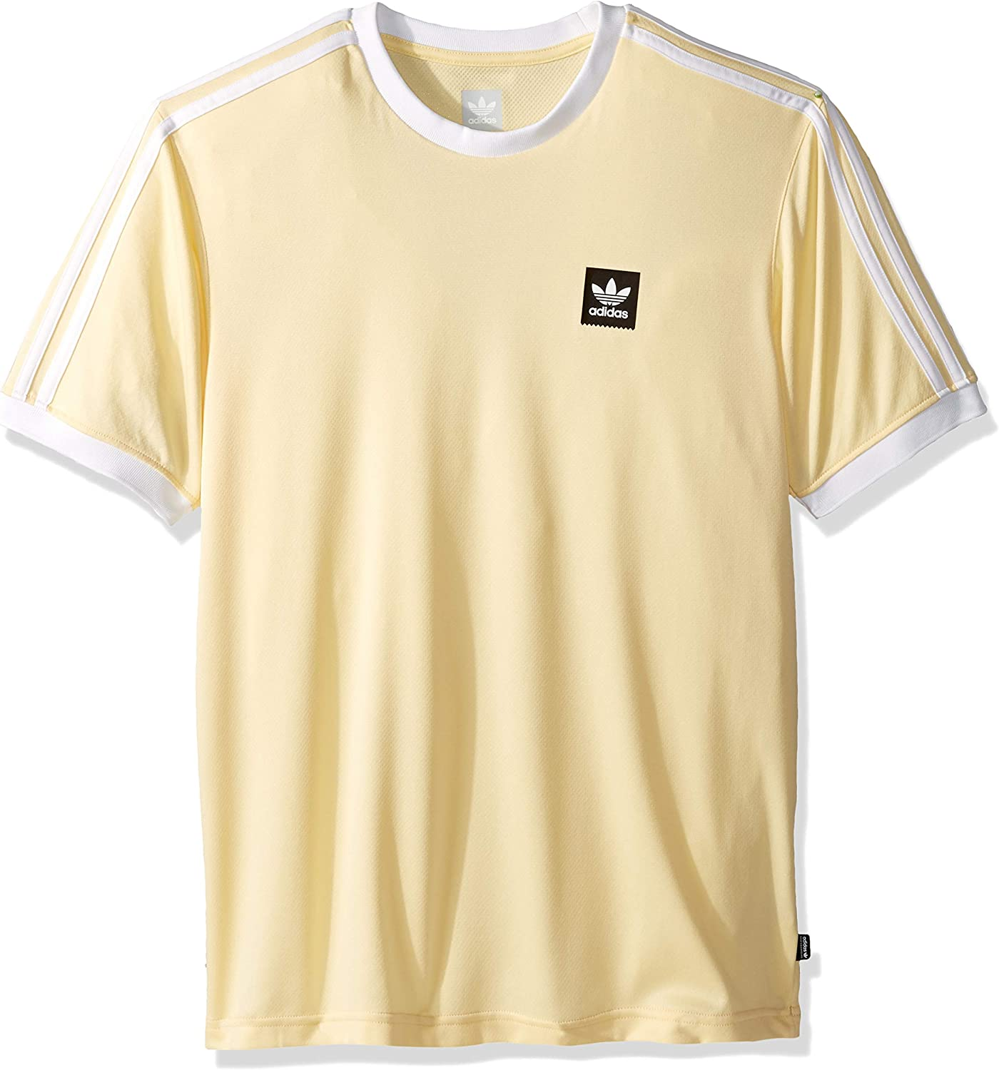 adidas Originals Men's Club Jersey, easy yellow/white, X-Small at ...