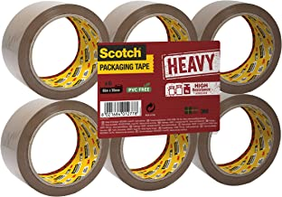 Scotch HV5066FB verpakkingstape HEAVY, 6 rollen, 50 mm x 66 m, bruin