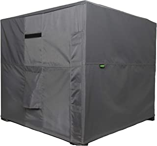 Hybrid Covers - Air Conditioner Cover, Square, Durable Waterproof All Weather Outdoor Protection (34 x 34 x 30 inches)