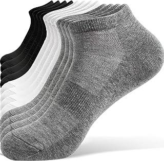 TRENDOUX, 6 Pares de Calcetines Cortos Hombre Mujer Calcetines Tobilleros de Algodón Respirable Antideslizantes