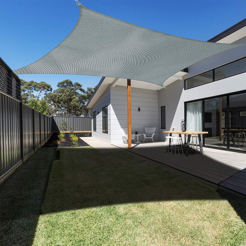 Ankuka Waterproof Sun Shade Sail Canopy Rectangle Dark Green UV Block for Outdoor Patio and Garden, Yard Activities (10' x 13', Grey)
