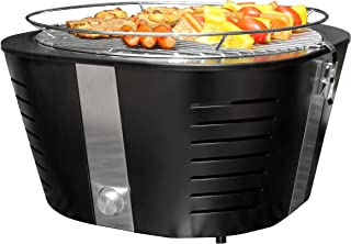 FutureSprout Charcoal Grill Outdoor Use Only - Adjustable Temperature - Easy To Clean - Portable Barbecue Grill for Backyard, Camping, Hiking, Picnic, Patio, BBQ with Transport Bag