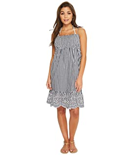 Gingham Beach Dress Cover-Up