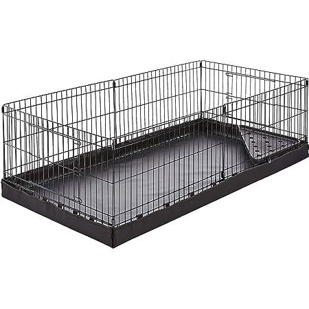 AmazonBasics Canvas Bottom Habitat Pet Cage - 47 x 14 x 24 Inches, Black