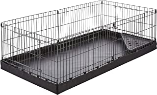 AmazonBasics Canvas Bottom Pet Cage with Divider Set