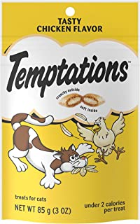 TEMPTATIONS Classic Crunchy and Soft Cat Treats, 3 oz. (Pack of 12)