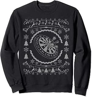 Ugly Christmas Style Dart Board Xmas Sweatshirt