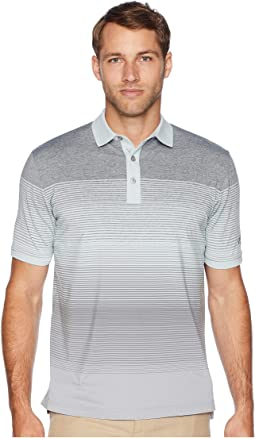 Space Dye Engineered Striped Polo