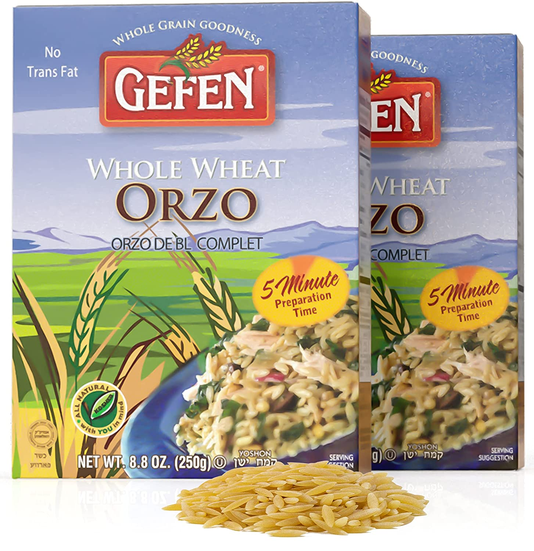 Gefen Whole Wheat Orzo Pasta 8.8oz Natural All Delic half Pack Max 58% OFF 2