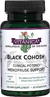 Vitanica Black Cohosh, Cimicifuga Extract Plus, Vegan, 60 Capsules
