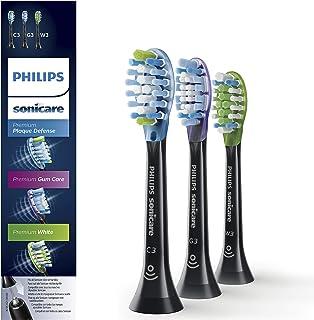 Philips飞利浦 Sonicare HX9073/33 Original Premium 刷头包,适用于 DiamondClean Smart 牙刷 3 件装 黑色