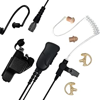 Sheepdog Quick Disconnect Police Lapel Mic, Compatible with Motorola XTS5000 XTS3000 XTS2500 and XTS1500 Radios, Law Enfor...