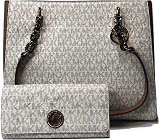 4ab9485dfb11b6 MICHAEL Michael Kors Sofia Large Shoulder Tote bundled with Michael Kors  Fulton Flap Continental Wallet
