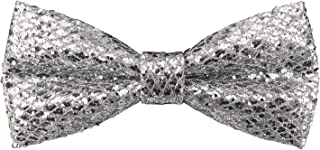 Mens Fashion Leather Pre-tied Bowtie Blink Sequins Glitter Bow Ties| by DEVEMNU HOMME