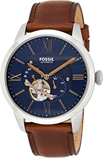 Fossil Townsman Men's Blue Dial Leather Analog Watch - ME3110