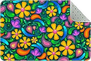 Doormat Custom Indoor Welcome Door Mat, Colorful Digital Art Flower Home Decorative Entry Rug Garden/Kitchen/Bedroom Mat N...