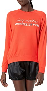 PJ Salvage Women's Loungewear Coffee + Canines Long Sleeve Top