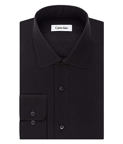 Calvin Klein Big and Tall Dress Shirts Non Iron Herringbone Solid