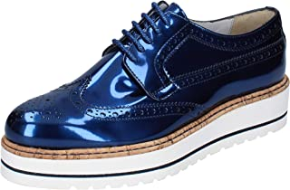 TRIVER FLIGHT Oxfords Womens Leather Blue
