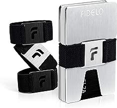 FIDELO Minimalist Wallet for Men – Slim Credit Card Holder Money Clip – RFID Blocking Front Pocket Mens Wallets