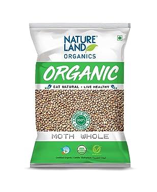 Natureland Organics Moth Whole 500 Gm - Organic Moth