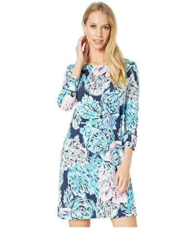 Lilly Pulitzer UPF 50+ Sophie Dress (High Tide Navy Party in Paradise) Women