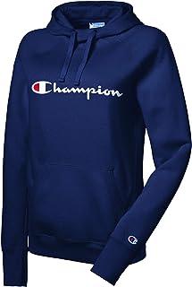 Champion 女士休闲绒面连帽衫卫衣