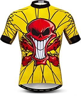 JPOJPO Men's Cycling Jersey Tops Biking Bike Shirts MTB Short Sleeve Bicycle Clothing