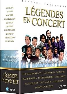 Légendes en concert : Luciano Pavarotti + Elvis Presley + Tom Jones + Frank Sinatra + The Temptations + Barry White + Julio Iglesias + Dean Martin + James Brown + Sammy Davis Jr. [Francia]